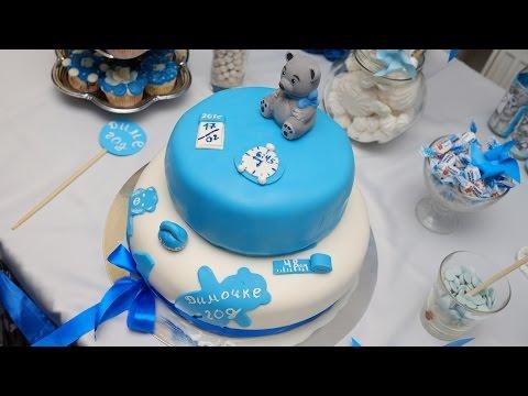 Торт из мастики ребенку на год