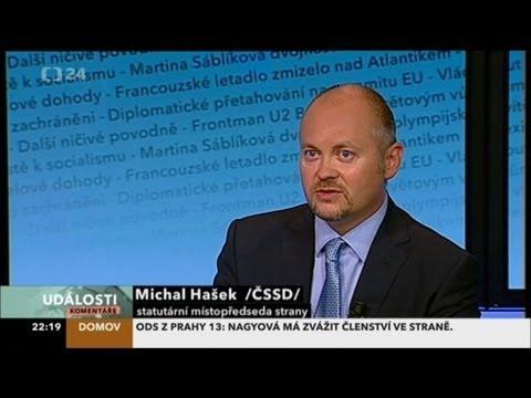 Michal Hašek: ČSSD má dobrý recept, jak napravit, co napáchaly ODS a TOP 09