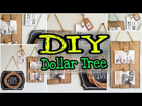 DIY Dollar Tree Farmhouse Decor & Rustic Decor