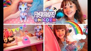 Fingerlings Unicorn nella casa delle bambole!