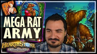THE GIGANTIC RAT ARMY! - Hearthstone Battlegrounds