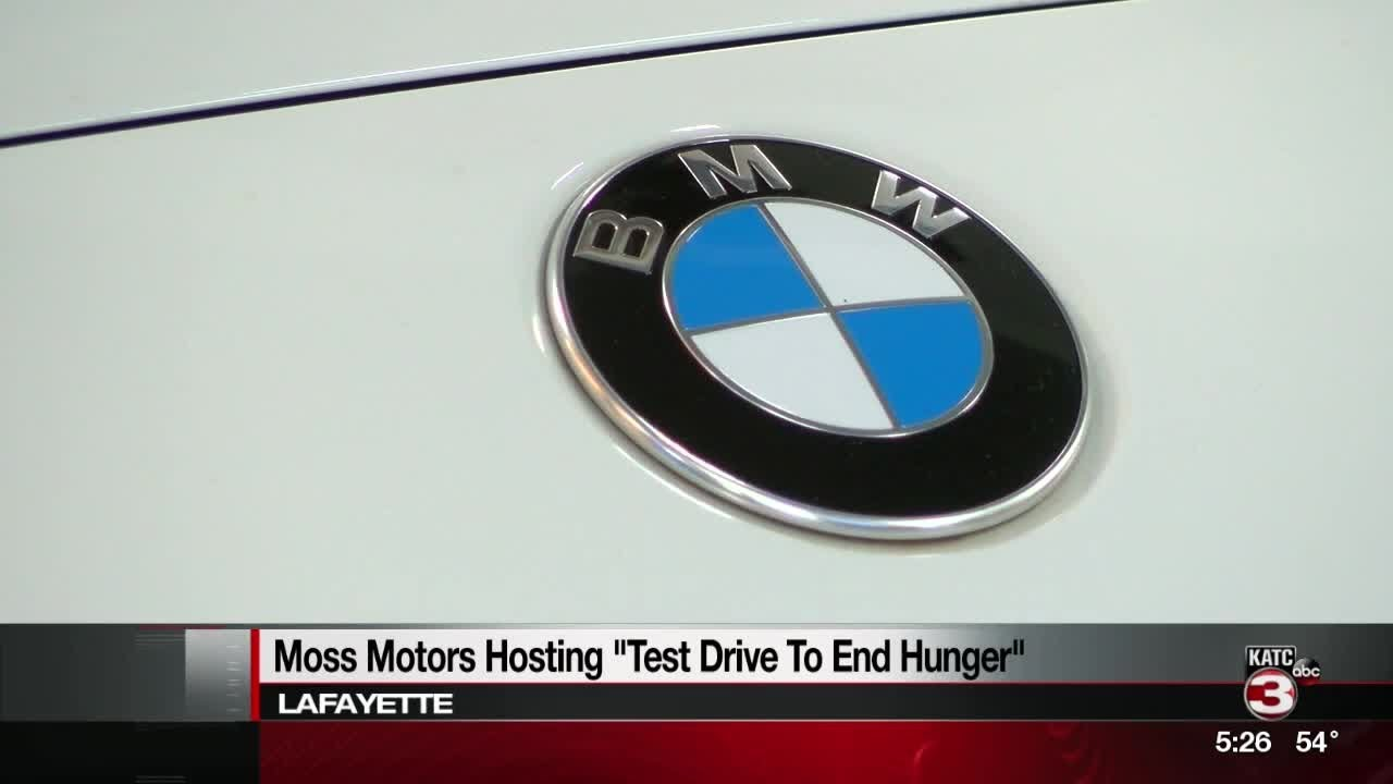 Moss Motors Bmw >> Test Drive A Car And Help Feed The Hungry