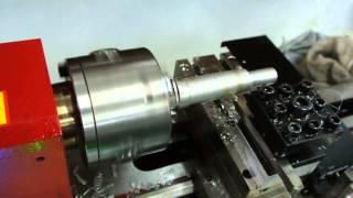 กลึงเกลียวด้วยเครื่องกลึง CNC ขนาดเล็ก ราคาถูก รุ่น SCL-300X2