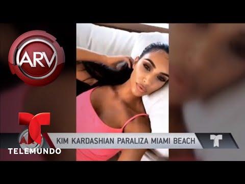 Kim Kardashian paraliza el tráfico de Miami | Al Rojo Vivo | Telemundo