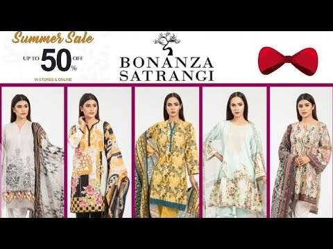 BONANZA Satrangi Collection  2020/Summer Sale Upto 50% Off On Bonanza/Available In Stores And Online