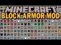 BLOCK ARMOR MOD - Armadura de TODOS los Bloques de Minecraft - Minecraft mod 1.11.2
