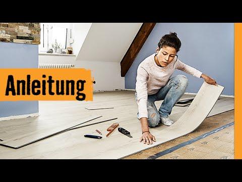 klick vinyl verlegen hornbach meisterschmiede youtube. Black Bedroom Furniture Sets. Home Design Ideas