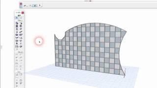 ArchiCAD カーテンウォールの編集(スキームや輪郭の編集1) / editing curtain wall profile