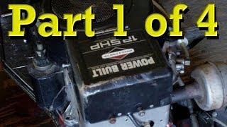 Briggs and Stratton Power Built 12.5 HP Flathead Model 28 Rebuild, Teardown / Reassembly PART 1