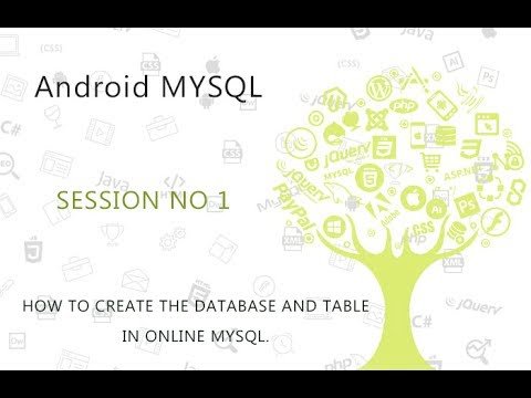 how to create tables on mysql database