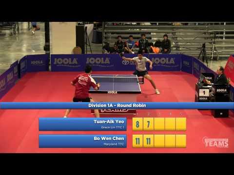 2013 JOOLA/NATT Teams Preliminary Round Robin: Tuan Aik Yeo vs Bo Wen Chen
