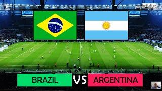 PES 2020   BRAZIL VS ARGENTINA   International Friendly Match u0026 Amazing Goals   Messi vs Neymar