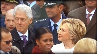 DAMN! WATCH HILLARY CATCH BILL UNDRESSING IVANKA TRUMP AT THE INAUGURATION WITH HIS EYES