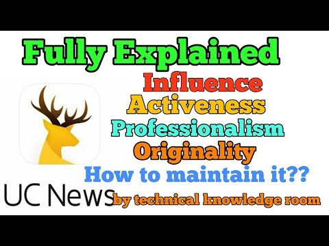 What is INFLUENCE, PROFESSIONALISM, ACTIVENESS,ORIGINALITY in Uc media  fully explained
