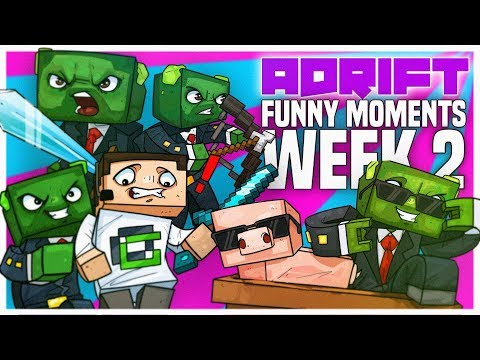 Minecraft: ADRIFT - HIGHLIGHTS & FUNNY MOMENTS #2