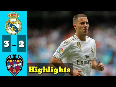 Réal Madrid vs Levante 3 - 2 | Highlights, Goals,