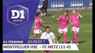 J7 : Montpellier HSC - FC Metz (11-0) / D1 Féminine