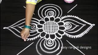 Creative n cute rangoli art designs || Small Freehand kolam designs || Muggulu