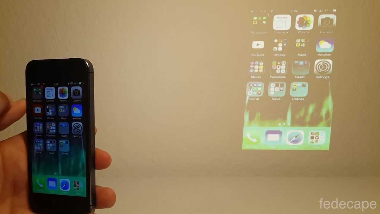 Iphone projector paul kolp for Iphone 5 projector price