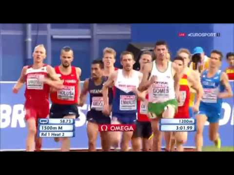 237 Jakub Holuša 1500m H2 Men's HD European Athletics Championships Amsterdam 2016