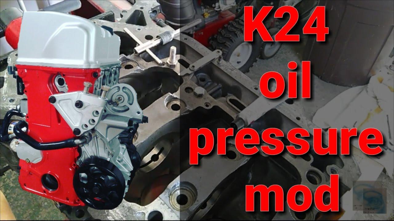 medium resolution of k24 oil pressure mod