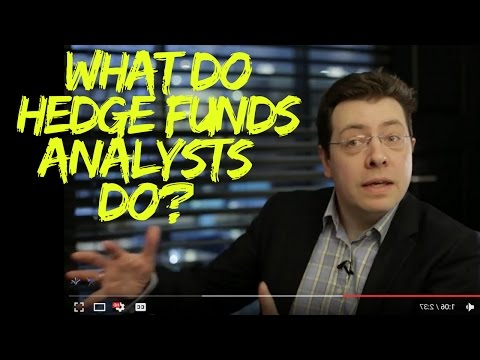What do hedge funds analysts do?