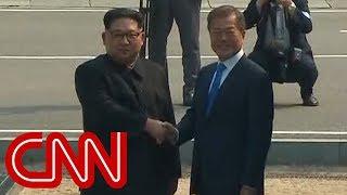 Watch Kim Jong Un cross the line at DMZ
