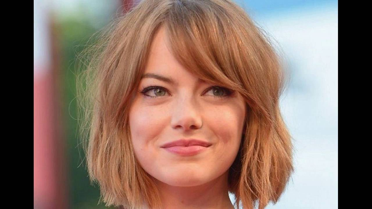 Side Swept Bangs Suits Best For Short Hair Round Face Youtube