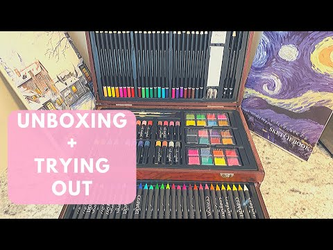 UNBOXING SET DE ARTE AMAZON 🎨 | Deluxe Art Set UNBOXING + TESTING [145 Pcs]