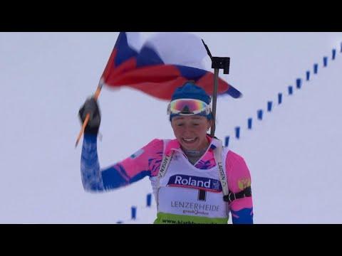 Триумфом российских юниоров завершился Чемпионат мира по биатлону в Швейцарии.