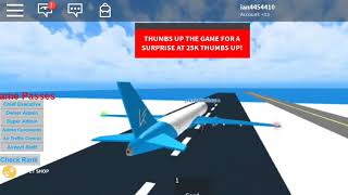 ONE PASSENGER ON THE PLANE?! - ROBLOX Keyon Air Boeing 767-200 (First Class Seat)