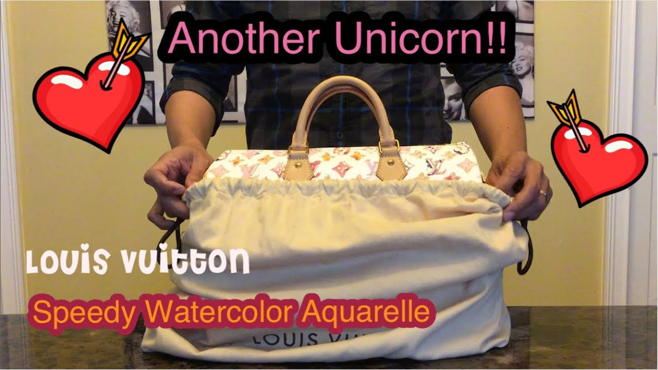b3646373a52d My other Unicorn! Louis Vuitton Speedy 35 Watercolor Aquarelle ...