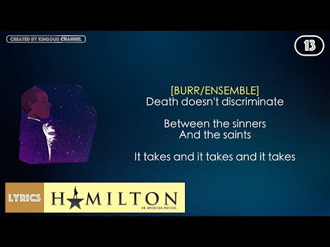 #13 Hamilton - Wait For It (VIDEO LYRICS)