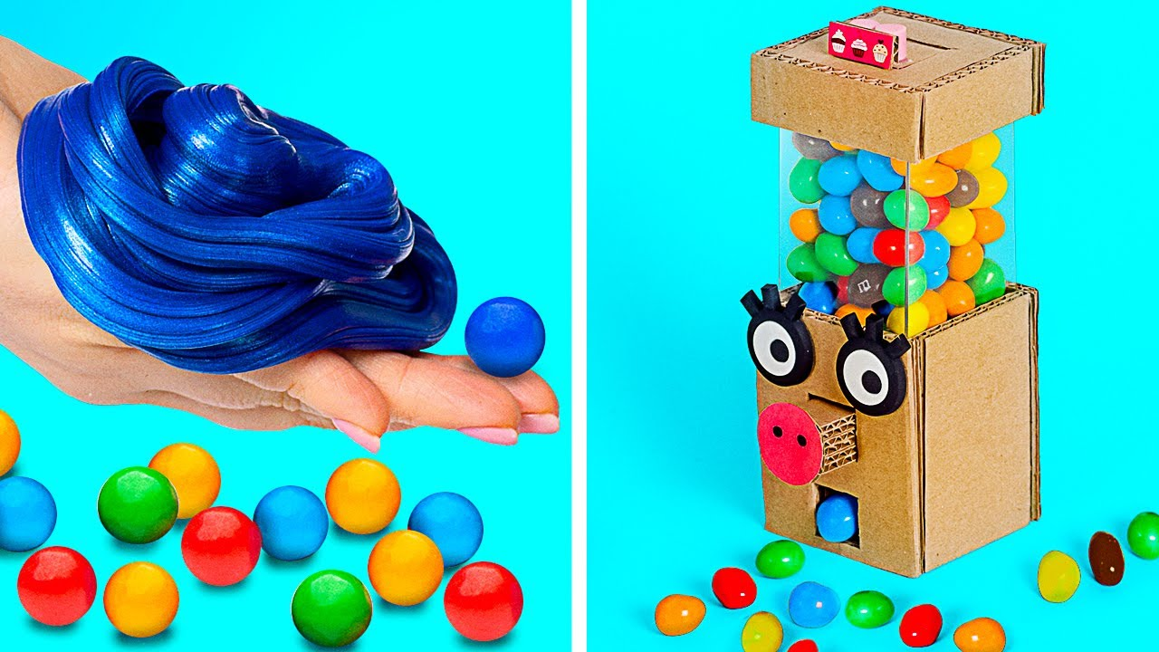 BUBBLE GUM!! | How To Make a Homemade Gum And DIY Gumball Machine