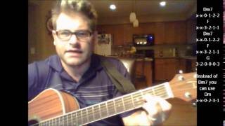 How to play King Of Wishful Thinking by Go West on acoustic guitar