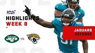 Jaguars Defense Eats Up Jets w/ 8 Sacks