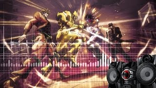 JJBA: Jotaro vs Dio full fight but with BASS SOUNDS ONLY [BOOOW POOOOW]