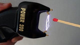 Experiment - Kann man mit dem Elektroschocker ein Streichholz anzünden?☠
