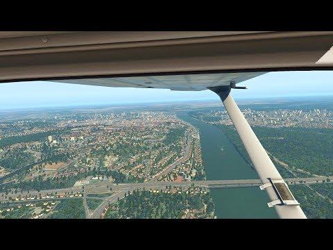 X-Plane 11 - Flight Over The Bratislava (FullHD)