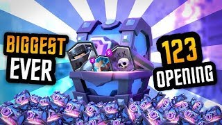$4,000 SUPER MAGICAL CHEST OPENING!!! :: 600,000 GEMS :: Clash Royale
