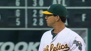 TEX@OAK: Milone allows three runs over 5 2/3 innings