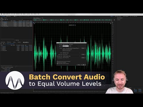 Batch Convert Many Audio Files to Equal Volume Levels