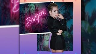 miley cyrus reveals bangerz album early sms with britney spears review