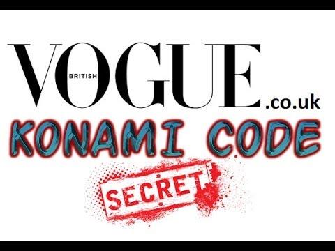 Vogue co uk konami code secret