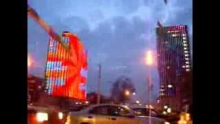 Светодиодные трубки LED TUBE на фасаде гостиницы