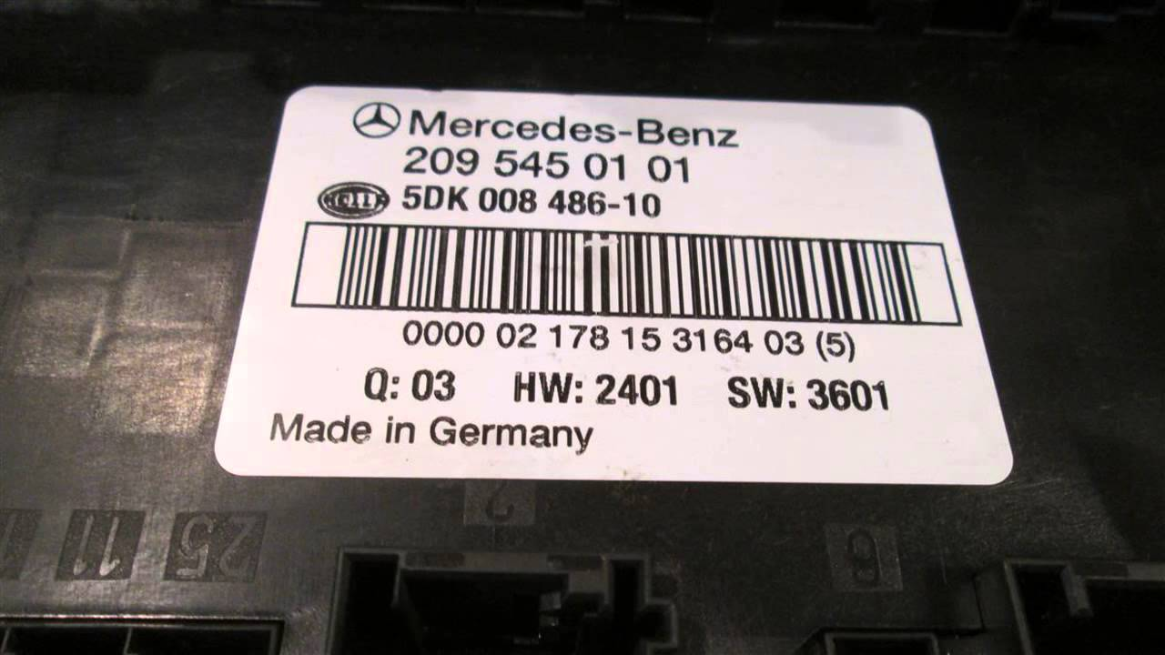 Mercedes Benz 2003 C240 Fuse Box Starting Know About Wiring Diagram 2095450101 Rear Mbiparts Com Used Oem Rh Youtube Layout