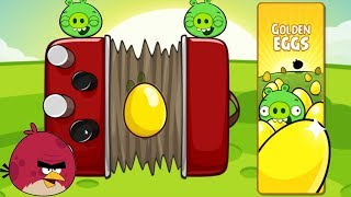 Angry Birds - 4 x SOUND SQUENCER GOLDEN EGG BIRDS VS 100 PIGGIES