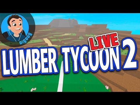 Awesome YouTube Logo in Roblox Lumber Tycoon 2 LIVE!! Working on the Big LT2 Base!