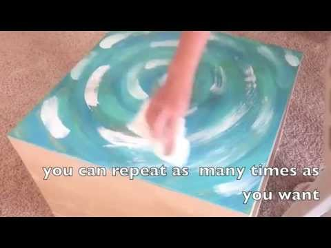 DIY How to Funky Paint your table top  tutorial