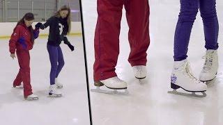 СпоРТ: как научиться кататься на коньках(Хотите научиться правильно кататься на коньках? Посмотрев это видео, всего за несколько минут вы узнаете..., 2015-02-06T08:11:07.000Z)